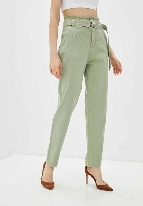 женские повседневные брюки guess, зеленые