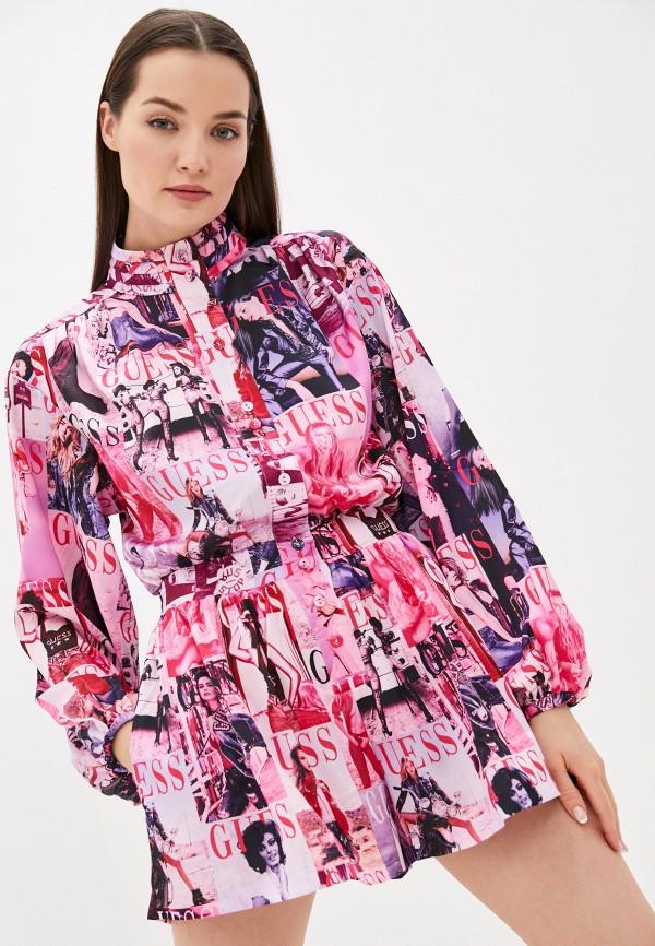 женский комбинезон с шортами guess, розовый