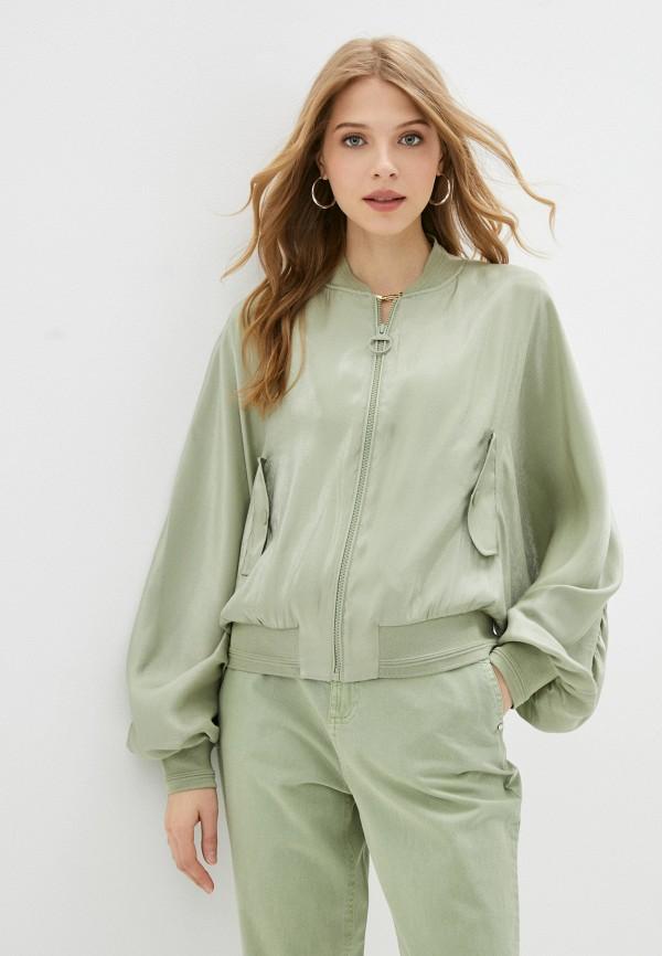 женская куртка guess, зеленая