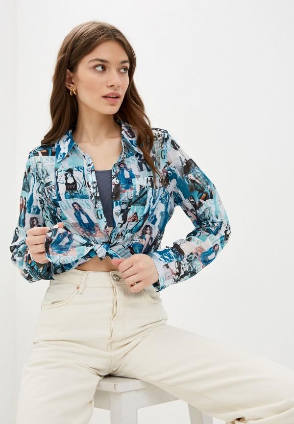 женская блузка guess, разноцветная