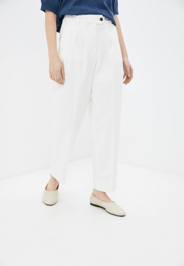 женские джинсы клеш gant, белые