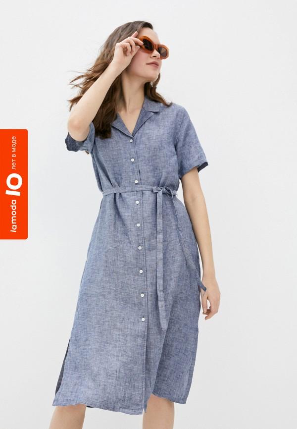 женское платье-рубашки gant, синее