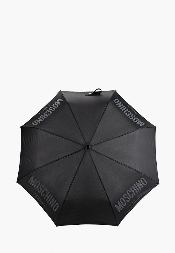 женский складные зонт moschino, черный