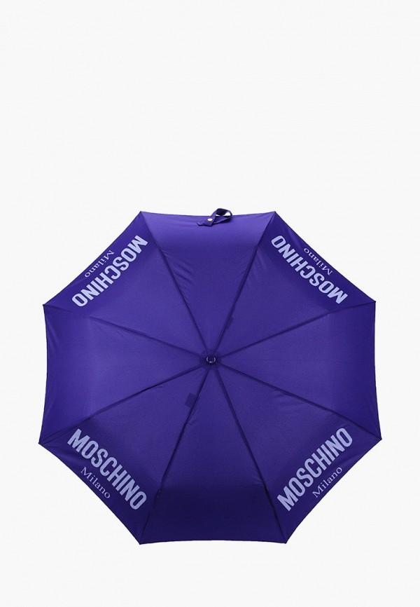 женский складные зонт moschino, фиолетовый