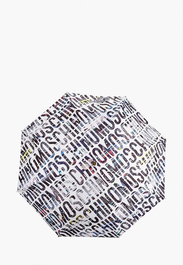 женский складные зонт moschino, белый