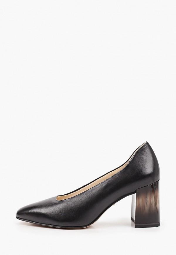 женские туфли с закрытым носом tamaris, черные