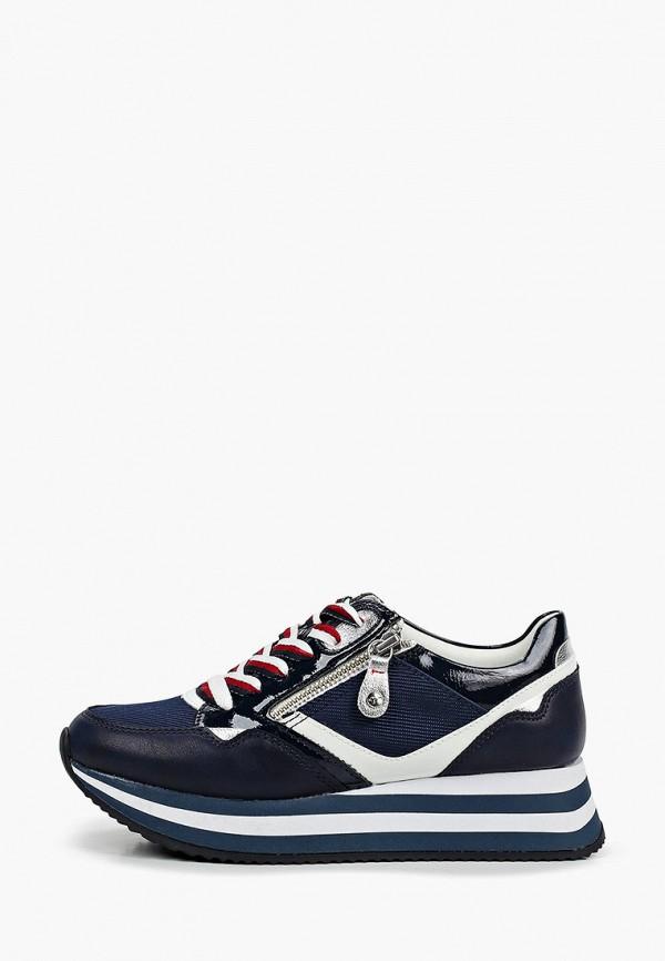 женские низкие кроссовки tamaris, синие