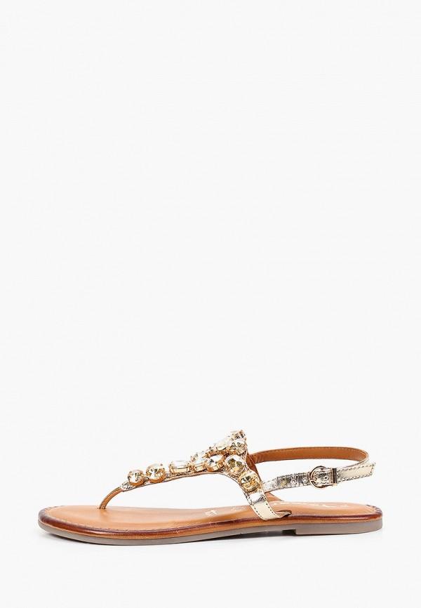 женские сандалии tamaris, золотые