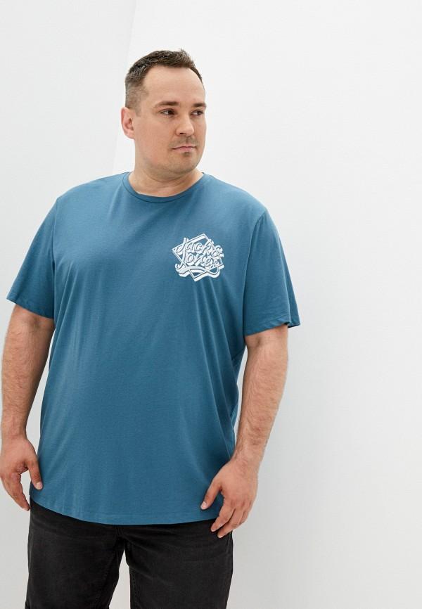 мужская футболка jack & jones, бирюзовая