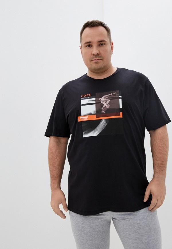 мужская футболка jack & jones, черная