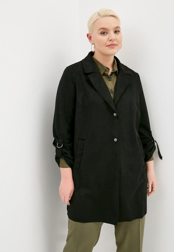 женское пальто only carmakoma, черное