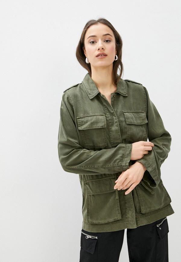 женская рубашка с длинным рукавом only, хаки