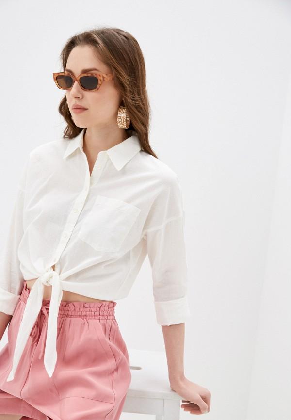 женская рубашка с длинным рукавом only, бежевая