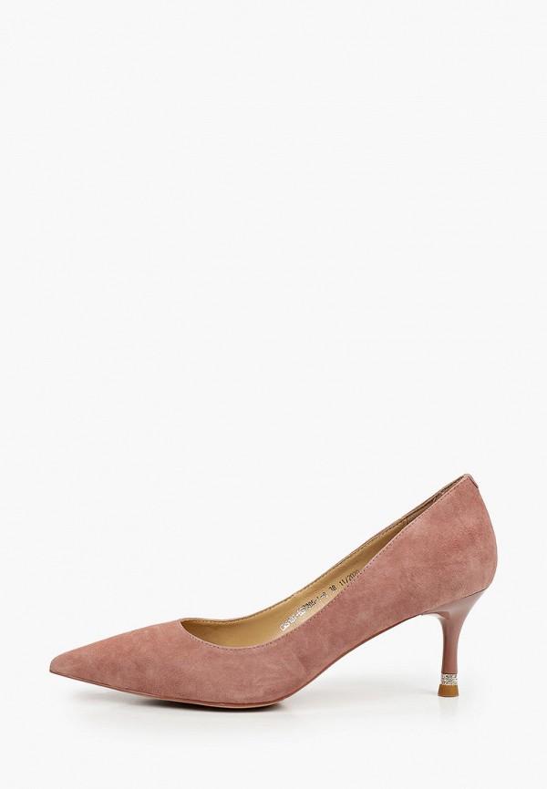 женские туфли-лодочки el tempo, розовые