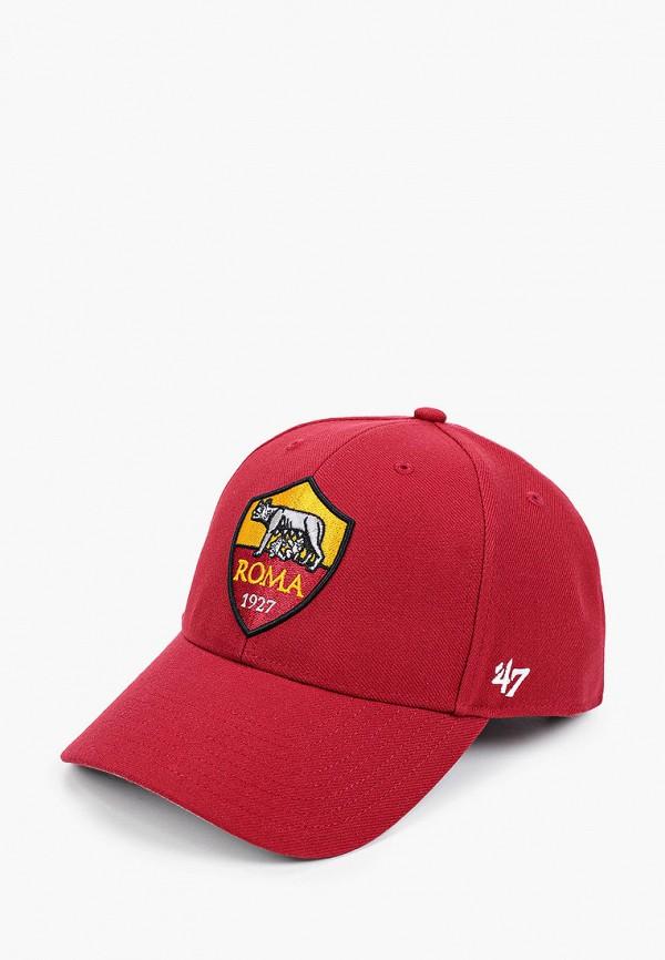 женская бейсболка '47 brand, красная