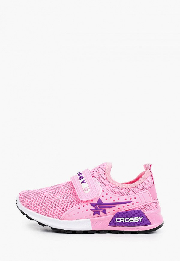 кроссовки crosby для девочки, розовые