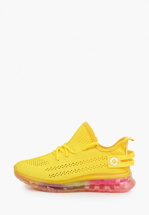 кроссовки crosby для девочки, желтые
