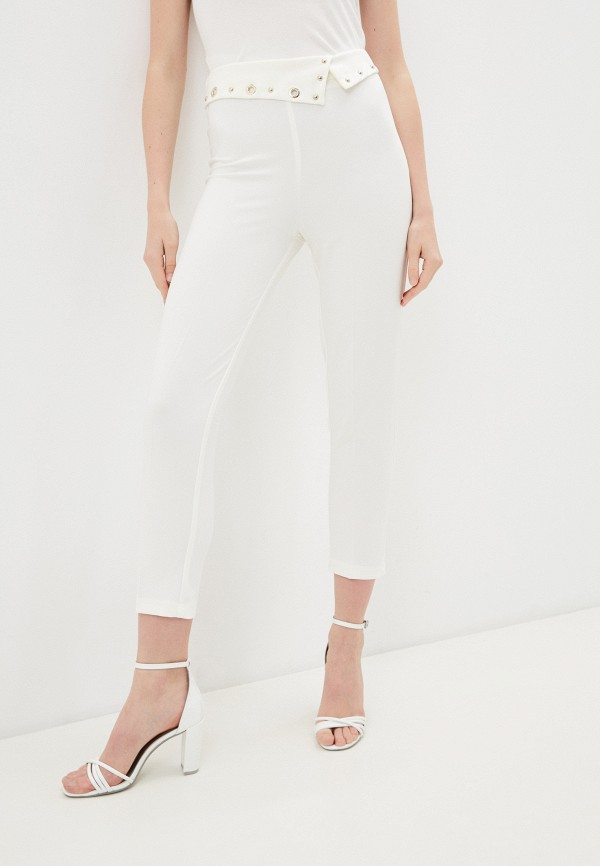 женские повседневные брюки rinascimento, белые
