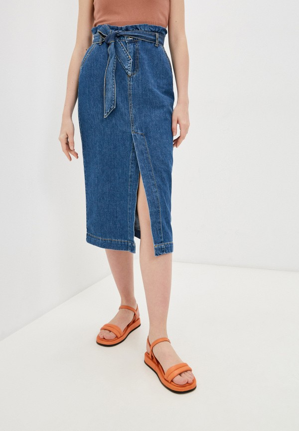 женская джинсовые юбка rinascimento, синяя