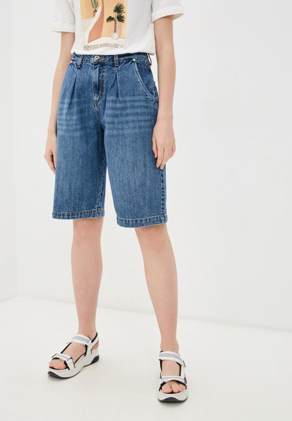 женские джинсовые шорты rinascimento, синие