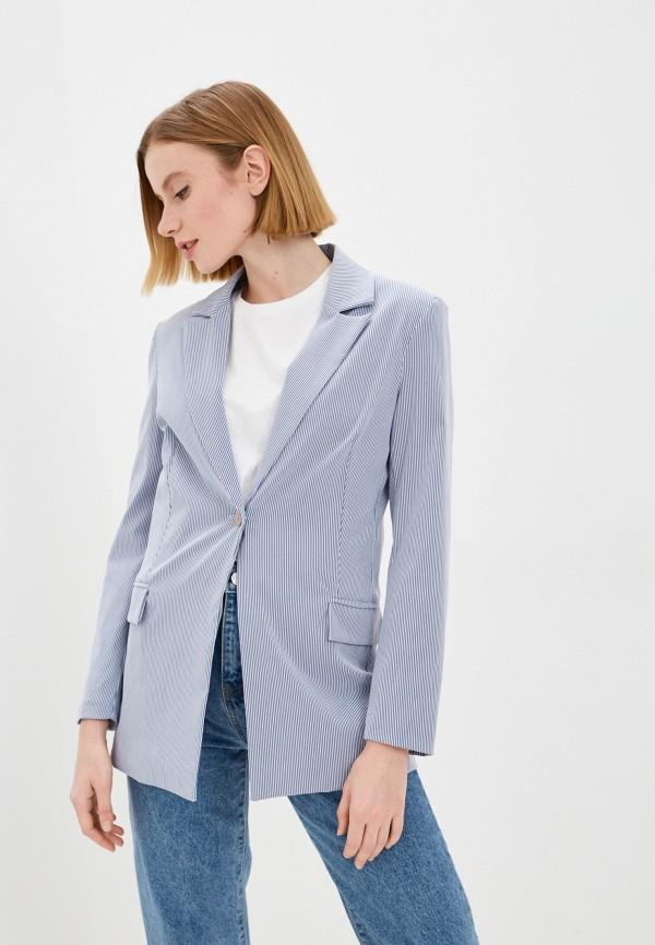 женский пиджак rinascimento, голубой