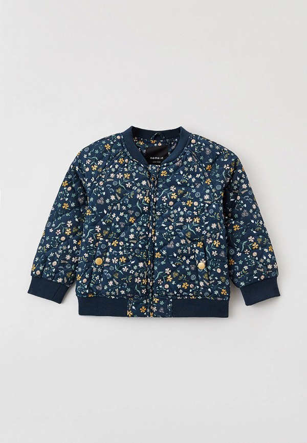утепленные куртка name it для девочки, синяя