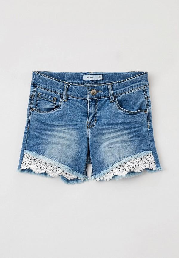 джинсовые шорты name it для девочки, голубые