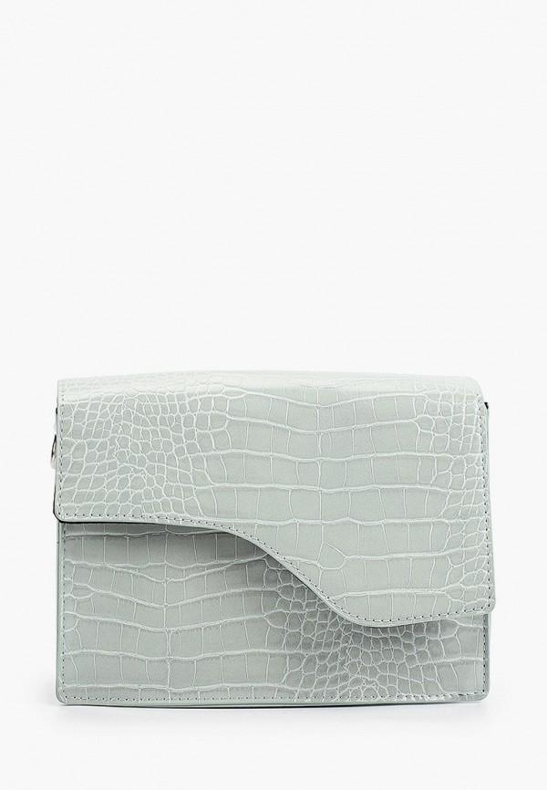 женская сумка через плечо pieces, бирюзовая
