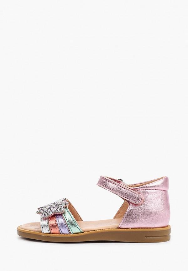 сандалии acebo's для девочки, розовые