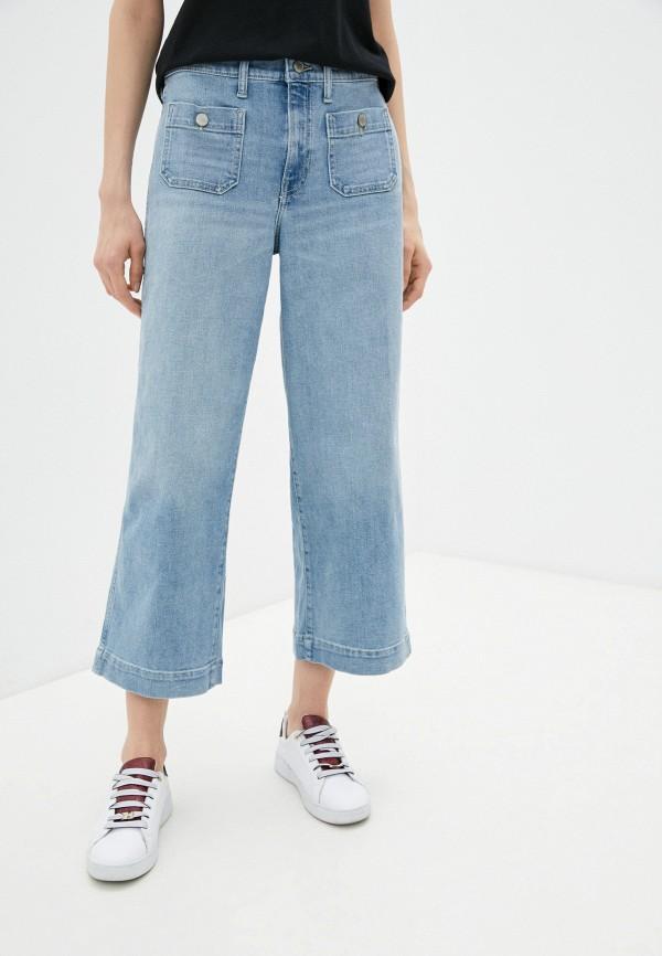 женские джинсы клеш banana republic, голубые
