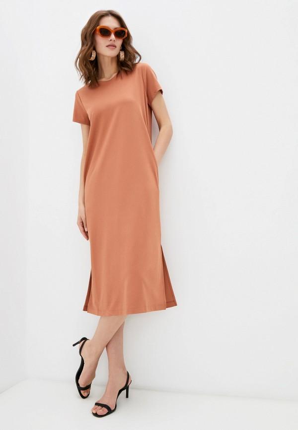 женское платье banana republic, коричневое