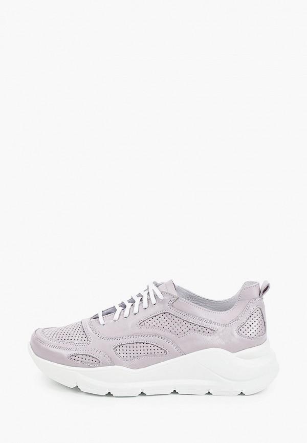 женские низкие кроссовки der spur, фиолетовые
