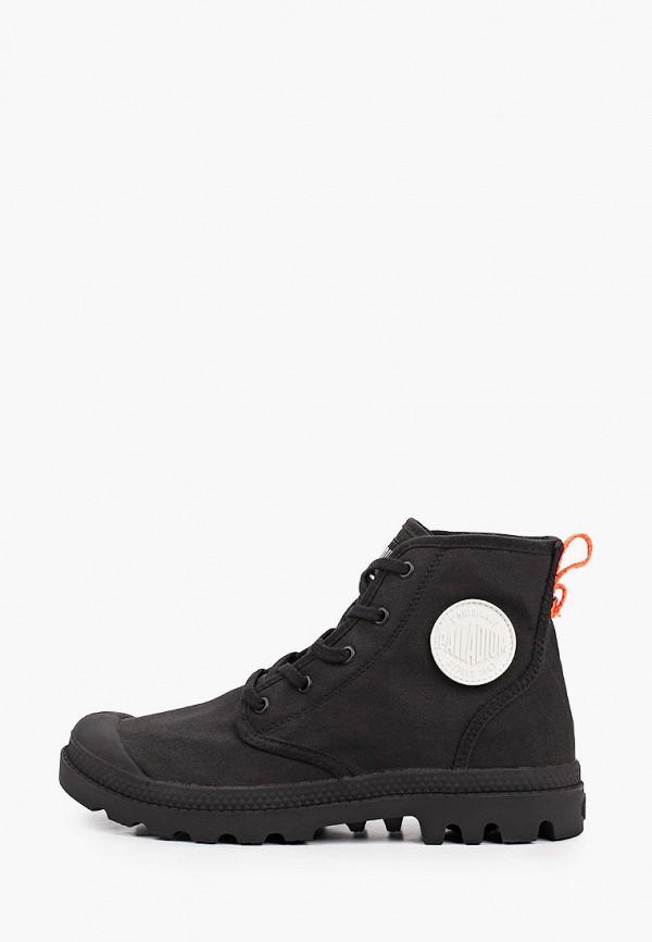 женские высокие ботинки palladium, черные