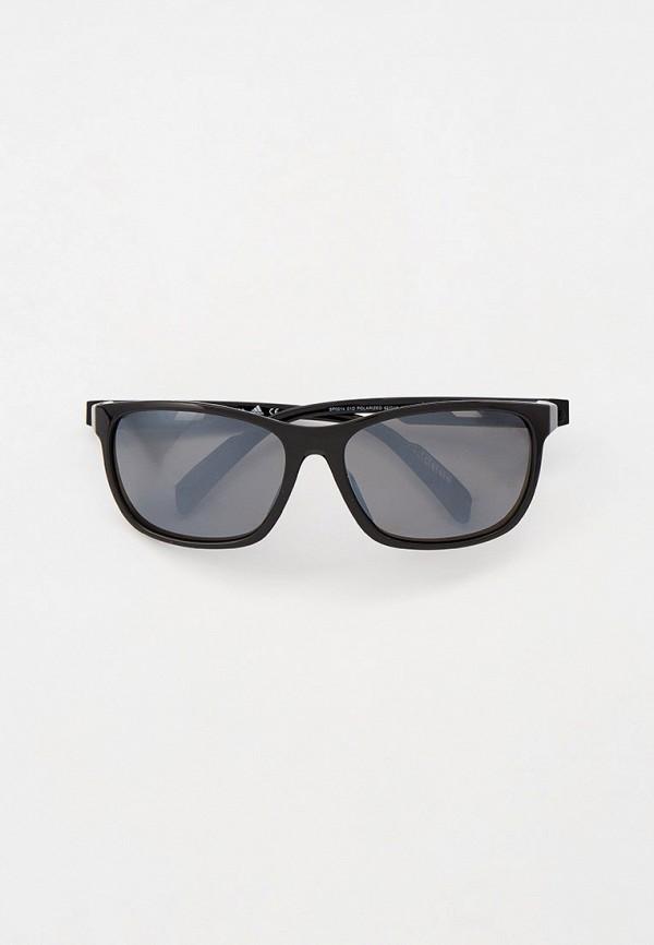 мужские квадратные солнцезащитные очки adidas, черные