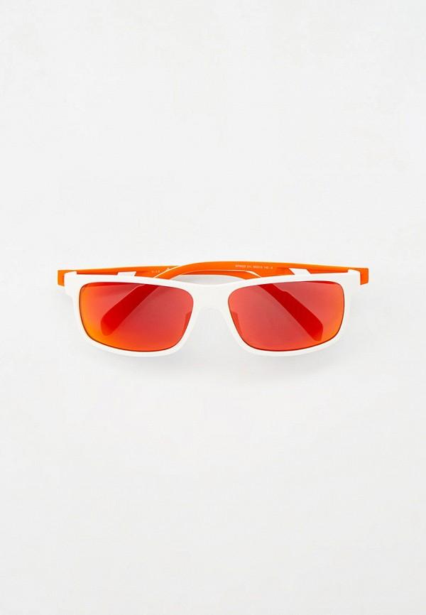 женские квадратные солнцезащитные очки adidas, белые