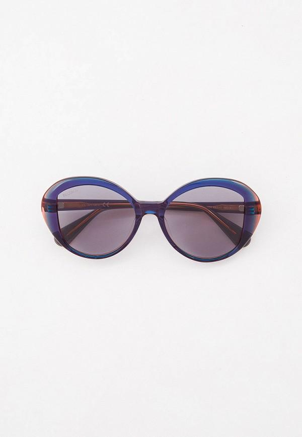 женские круглые солнцезащитные очки max&co, синие