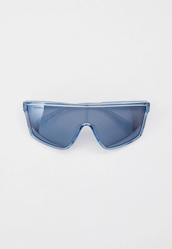 женские солнцезащитные очки max&co, голубые