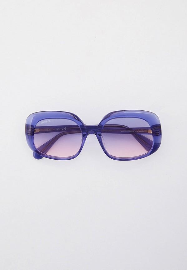 женские квадратные солнцезащитные очки max&co, синие