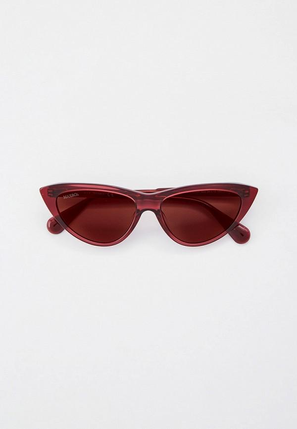 женские солнцезащитные очки кошачьи глаза max&co, фиолетовые
