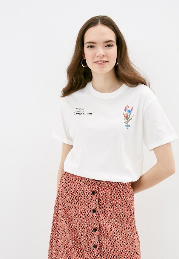 женская футболка s.oliver, белая