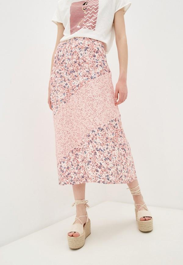 женская юбка-трапеции s.oliver, розовая