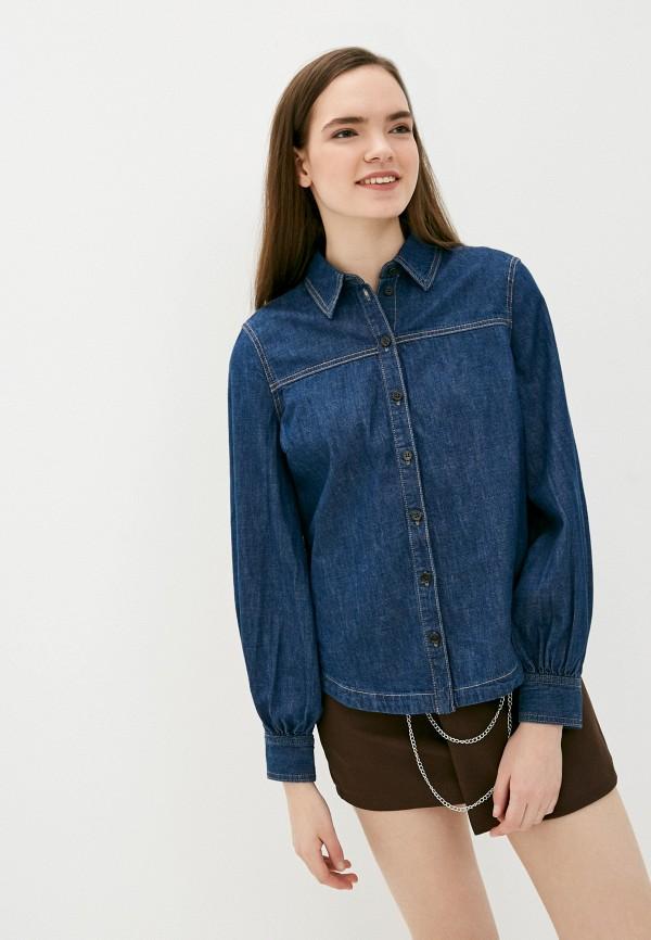 женская джинсовые рубашка s.oliver, синяя