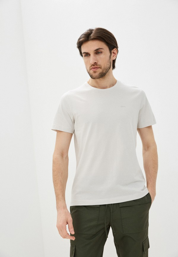 мужская футболка с коротким рукавом s.oliver, бежевая