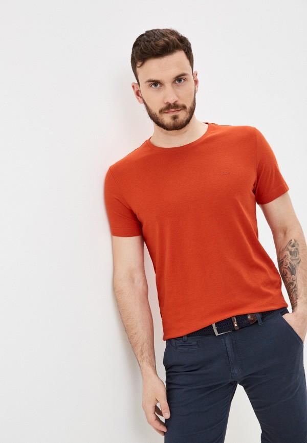 мужская футболка с коротким рукавом s.oliver, оранжевая