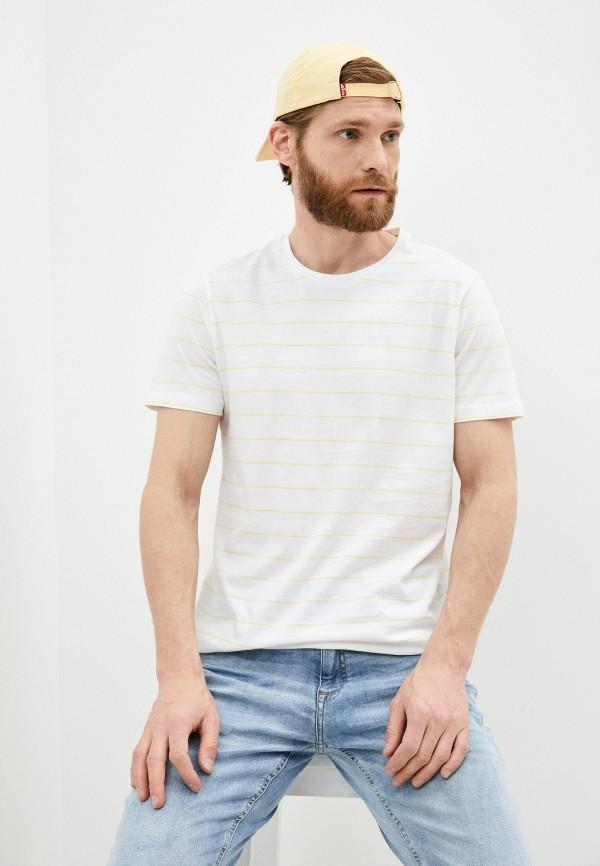 мужская футболка s.oliver, белая