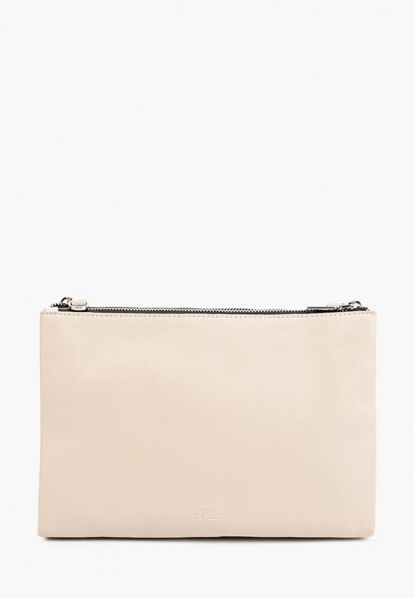 женская сумка через плечо s.oliver, бежевая