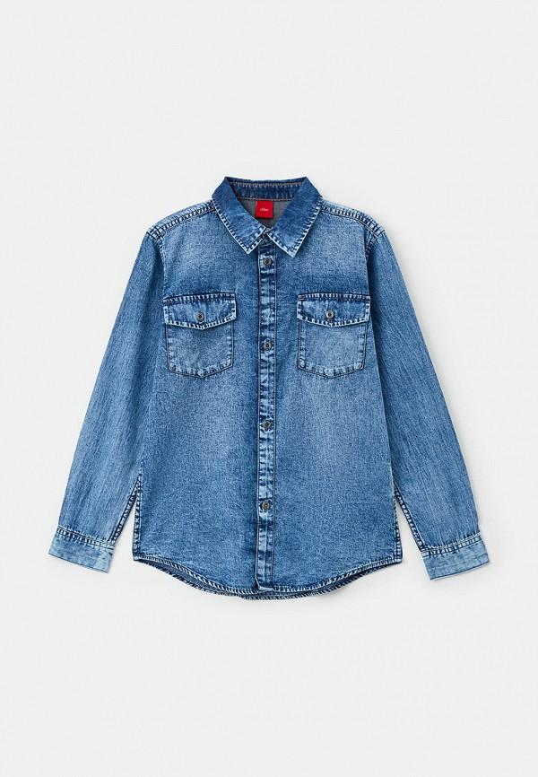 джинсовые рубашка s.oliver для мальчика, синяя