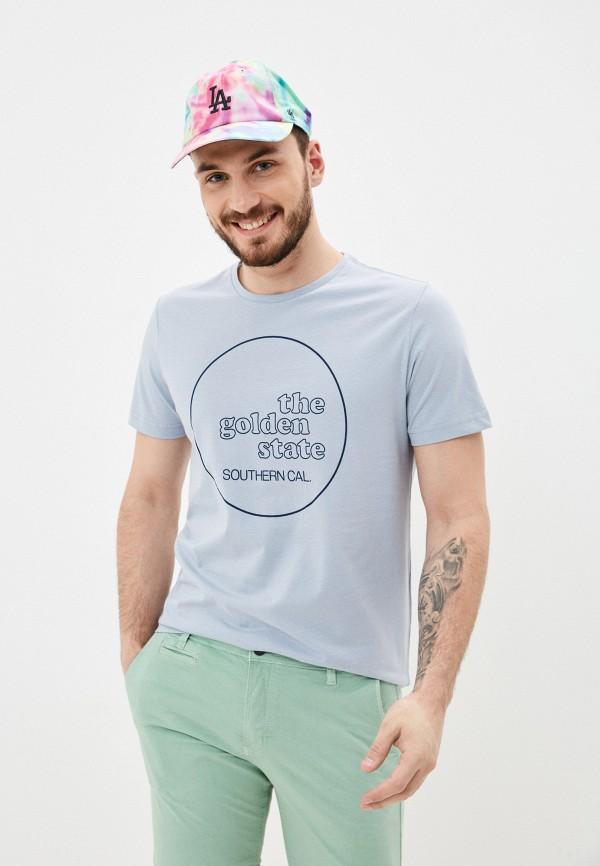 мужская футболка s.oliver, голубая