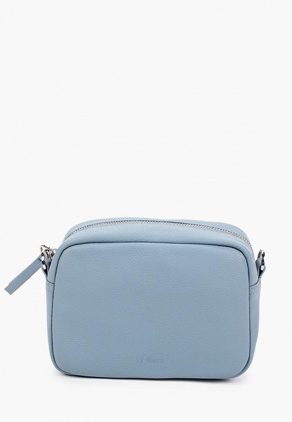 женская сумка через плечо s.oliver, голубая