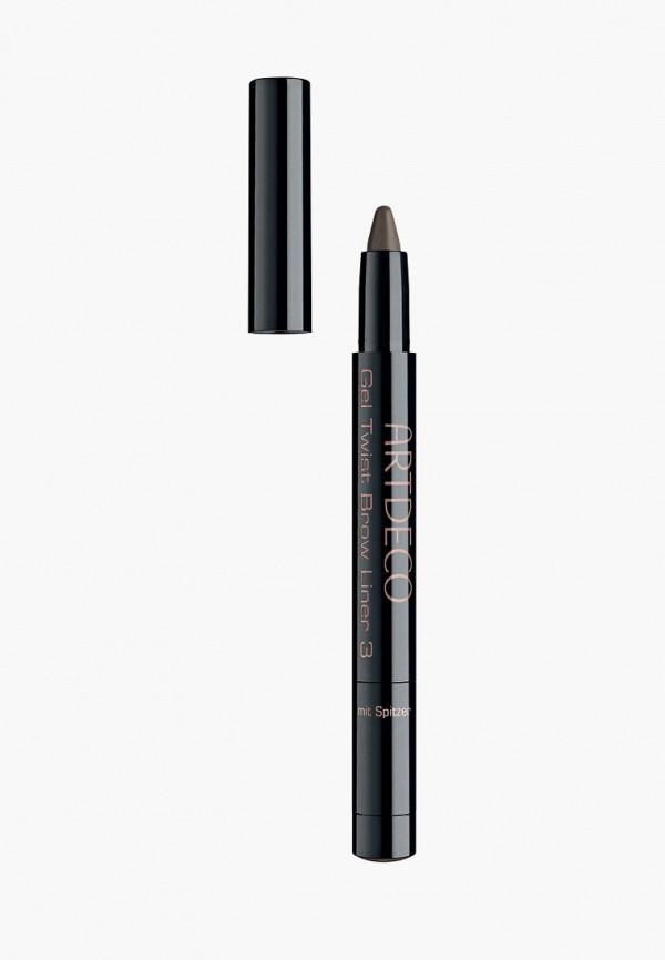 женский карандаш для бровей artdeco, коричневый